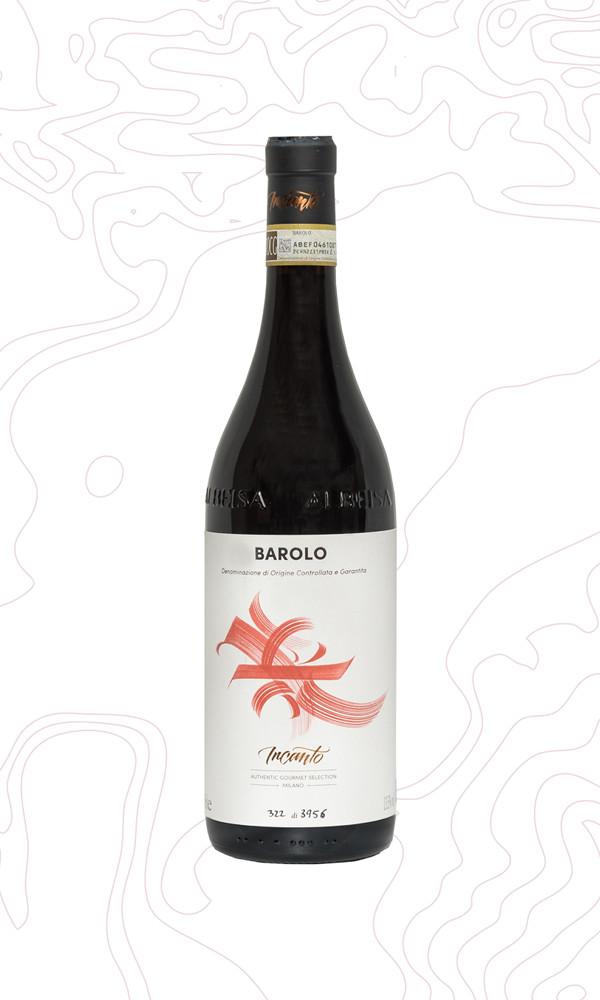 Bottiglia di vino rosso Barolo