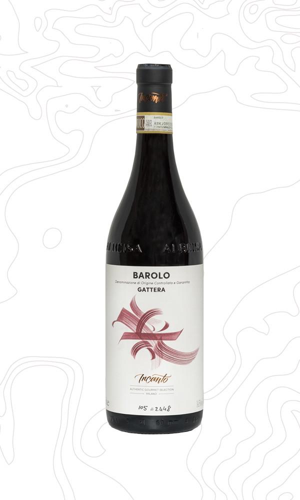 Bottiglia di vino rosso Barolo Gattera