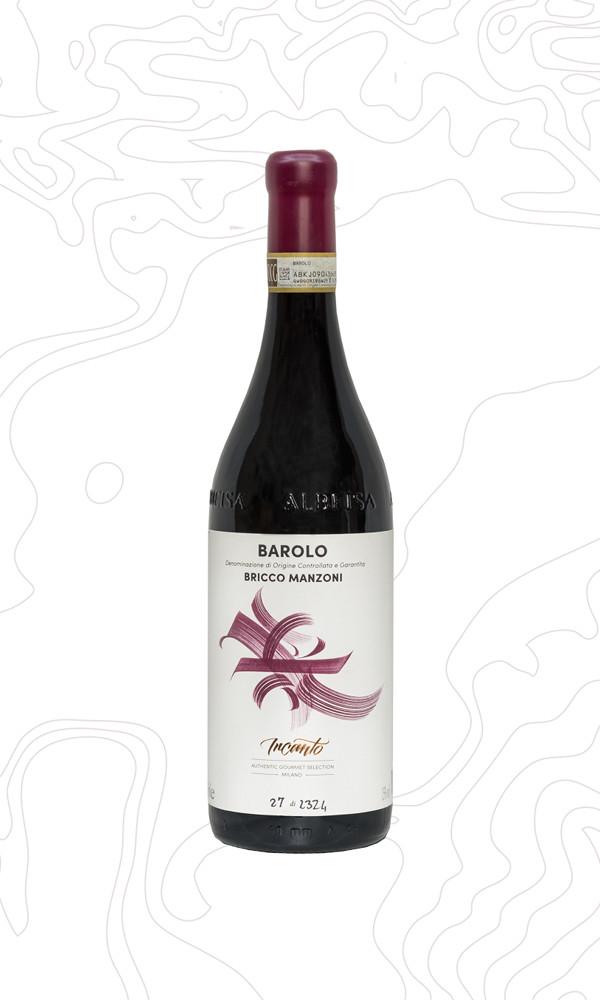 Bottiglia di vino Barolo Bricco Manzoni