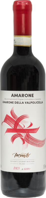 Bottle of Amarone red wine