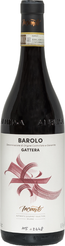 Bottiglia vino rosso Barolo Gattera