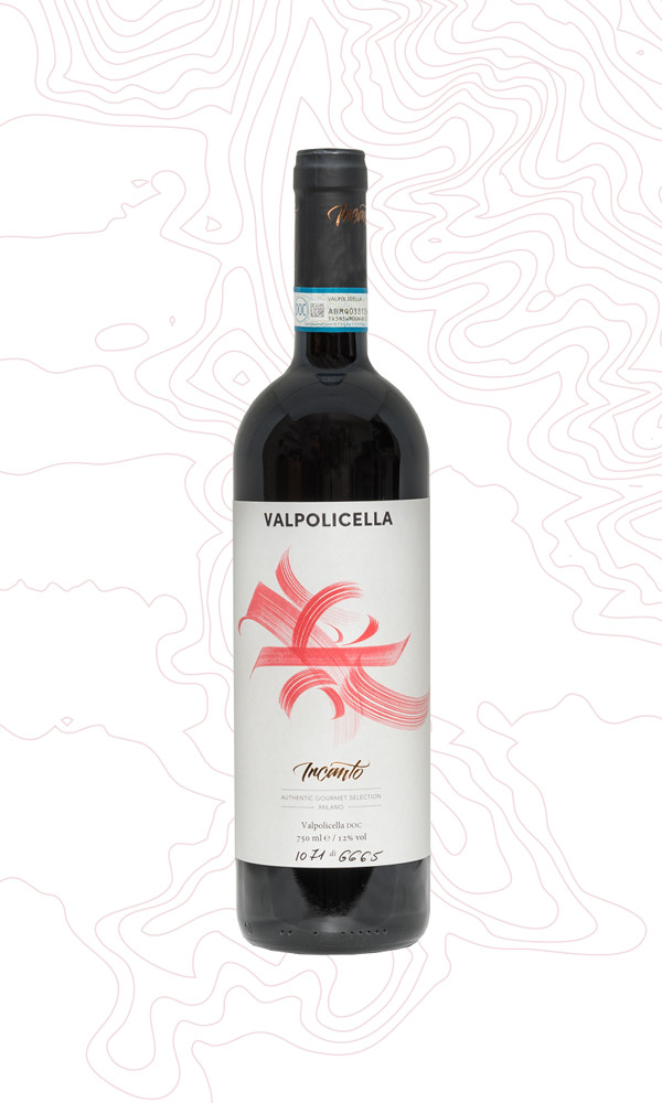 A bottle of red wine Valpolicella