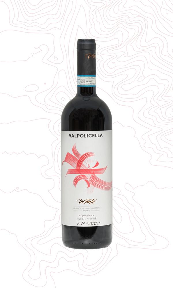 Bottiglia di vino rosso Valpolicella