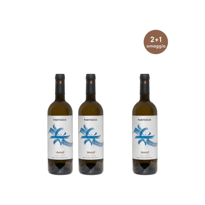 Tre bottiglie Bianco di Pantelleria DOC