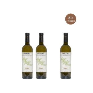 Tre bottiglie Castelli di Jesi DOC